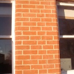 New matching brickwork laid and pointed in in hydraulic lime mortar 3.5 NHL.